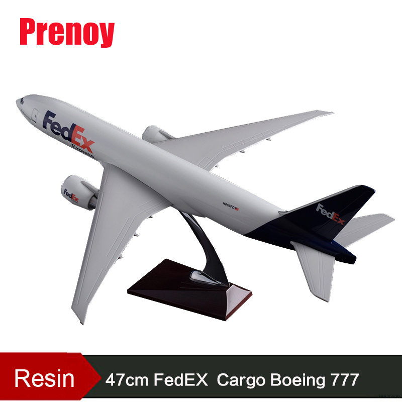 47cm Resin Boeing 777 FedEX Airlines Model B777 Cargo Airplane Airbus Fedex Express Plane Model Aviation Aircraft Airways Model 47cm shunfeng white boeing 757 resin sf express airlines airplane model b757 cargo airbus logistics airways aircraft plane model