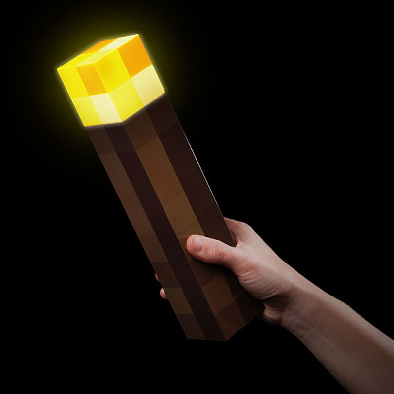 Minecraft Hand Held WALL Torch Redstone Ore Square Toys Minecraft Night light LED Figure Toys Light Up Diamond Ore Gifts Toys светильник think geek minecraft redstone ore n00313