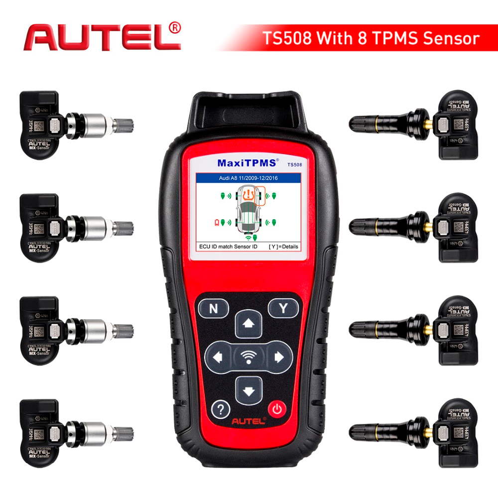 Autel MaxiTPMS TS508K de Pression des pneus TPMS Outil de Surveillance 4 pièces 433 MHZ + 4 pièces 315 MHZ Voiture Outil de Diagnostic Automobile Système Scanner