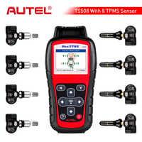 Autel maxitpms ts508k tpms pressão dos pneus ferramenta de monitoramento 4 pces 433 mhz + 4 pces 315 mhz ferramenta de diagnóstico do carro scanner sistema automotivo