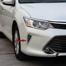 شحن مجاني جودة عالية ABS كروم الجبهة مصابيح ضباب غطاء الكسوة غطاء مصباح الضباب تقليم tuyere لتويوتا كامري