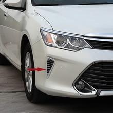 Freies Verschiffen Hohe Qualität ABS Chrome Nebelscheinwerfer abdeckung Trim nebelscheinwerfer schatten Trim blasdüse Trim Für Toyota Camry