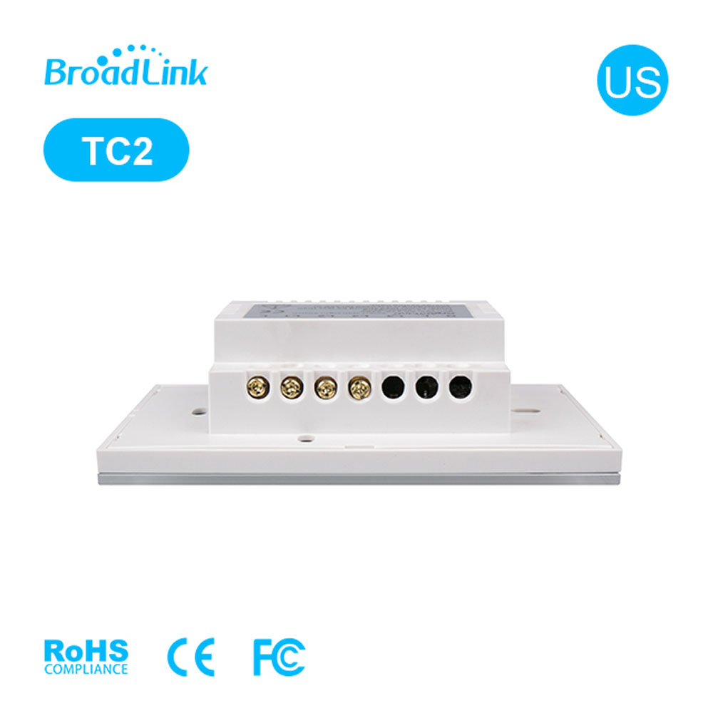 Broadlink TC2 US Wall Light WiFi Switch 1 2 3 Gang Smart Home Glass Panel Touch Control Wireless Switches 110V 220V Via Rm Pro in Smart Remote Control from Consumer Electronics