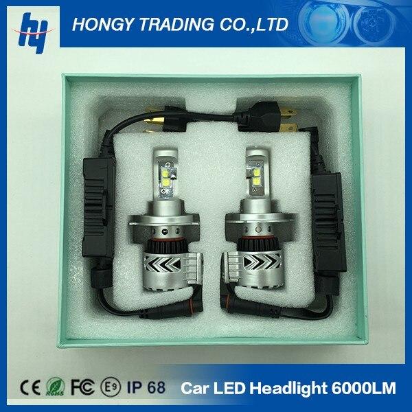 super bright 12000 lumen 72W H7 font b led b font lamp 8G car font b