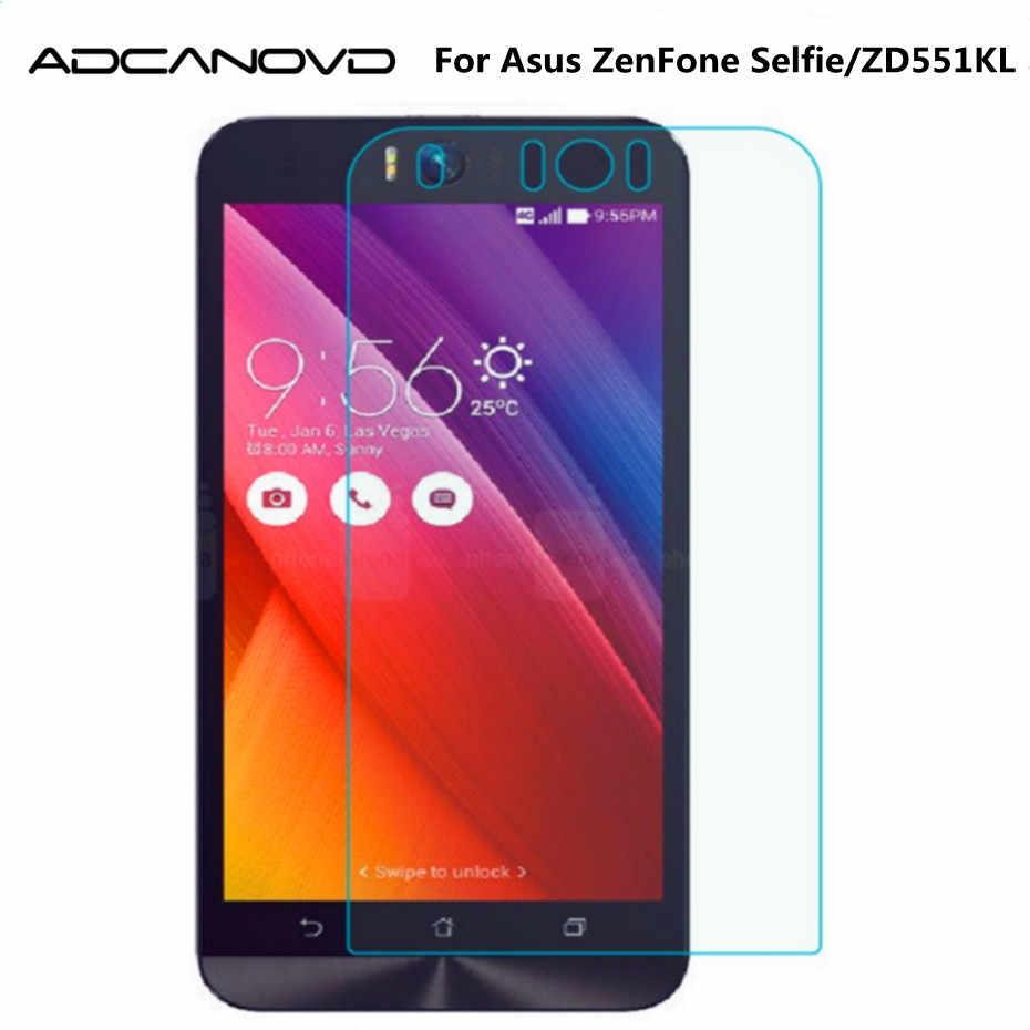 2 قطع الزجاج المقسى لشركة آسوس zenfone selfie حامي شاشة واقية الزجاج الفيلم ل ZD551KL Zd551 المزدوج سيم lte tw jp لنا