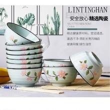 New boutique food grade ceramic bowls Hot Large Medium Small creative underglaze flowers