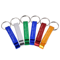 100PCS Personalized Engraved Bottle Openers Keyrings Keychain Wholesale Wedding Favors Party Business Gift