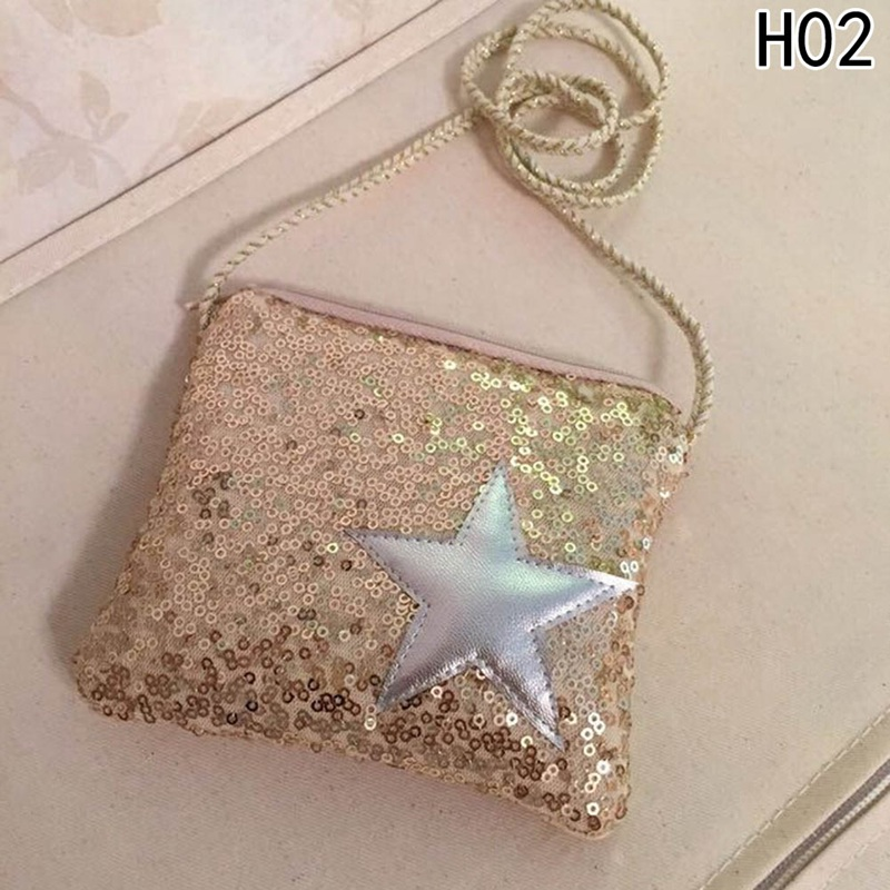 1PC Girls Small Sequins Coin Purse Change Wallet Kids Bag Coin Pouch Childrens Star Wallet Money Holder Kids Gift