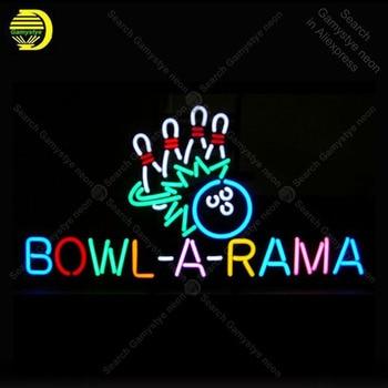 그릇에 대한 네온 사인-라마 볼링 장식 windower gameroom 디스플레이 맥주 바 유리 튜브 레스토랑 네온 불빛 광고 램프