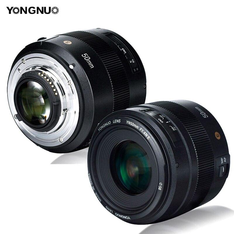 YONGNUO YN50mm F1 4N E Bright Large Aperture AF Auto Focus MF 50mm Standard Prime Lens