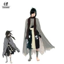 ROLECOS Anime Dororo Cosplay Costumes Hyakkimaru Costume Japanese Kimono with Cloak for Unisex