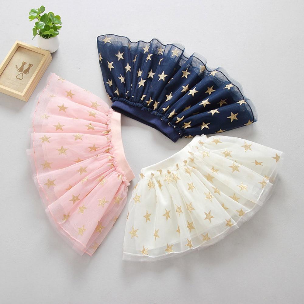 MUQGEW Girls Clothes Cute Summer Baby Girls Cotton Stars Print Princess Skirt Party Dancing Tutu Gauze Skirt Z06 mandala print skirt