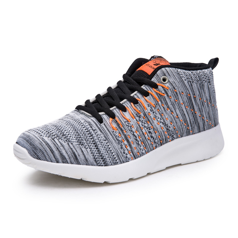 Delocrd zapatos corrientes de los hombres ligeros respirables de absorción de ch