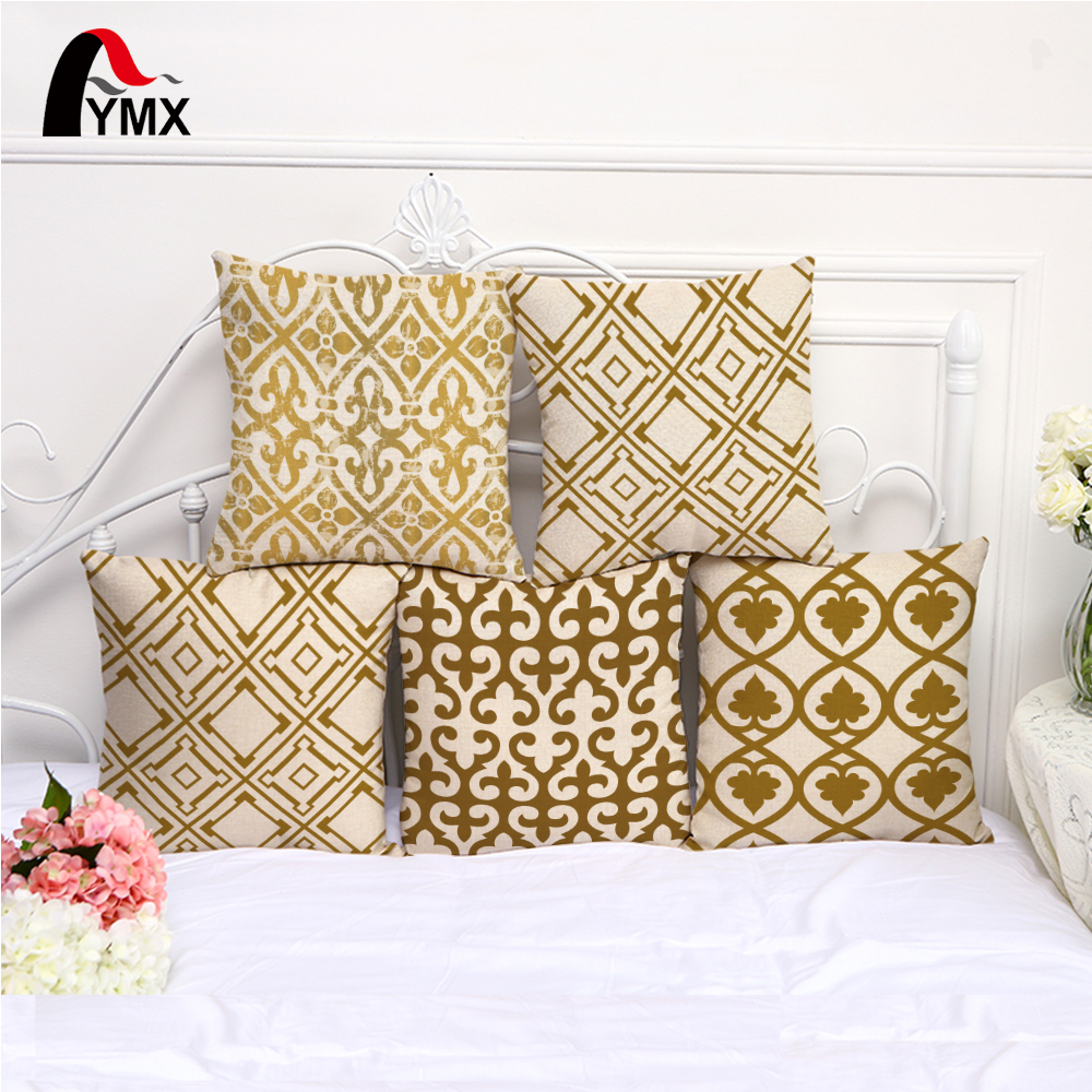 Geometric Style Cushion Cover Cotton and Linen Creative Cushions Cover For Soft Pillowcase Home Decorative Pillow Cases