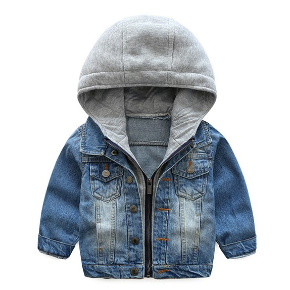 3-8years old Boys hoodie Denim coat kids hooded jackets boys sweatshirts boys clothing trendy casual boys coats 2018
