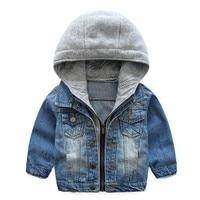 3 8years old Boys hoodie Denim coat kids hooded jackets boys sweatshirts boys clothing trendy casual boys coats 2018