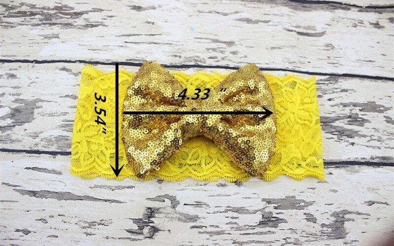 35 шт./лот, блестящие блесток лук на Кружево головы Обёрточная бумага