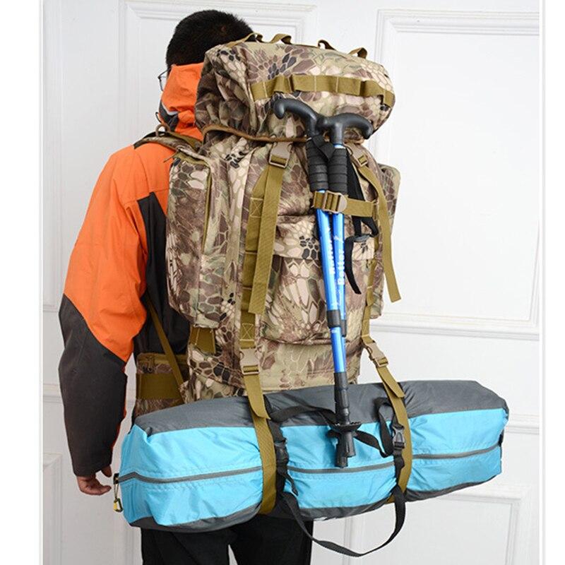 85L grande capacité Camouflage Camping en plein air sac à dos Molle randonnée champ militaire tactique voyage couverture de pluie sacs hommes