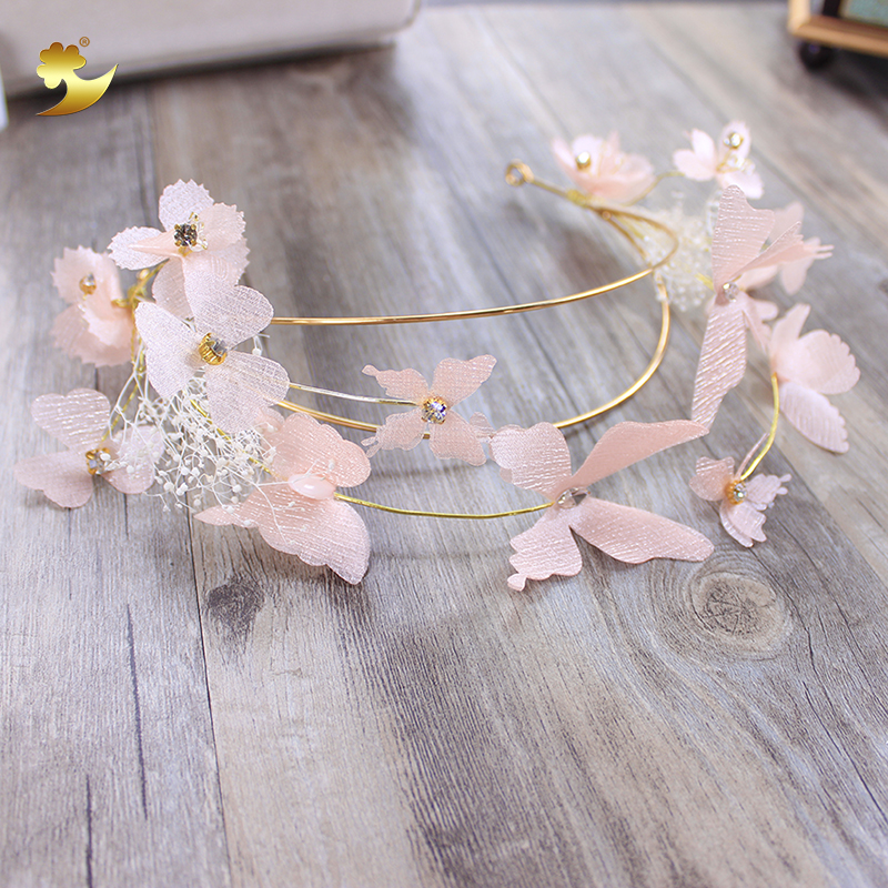 Wedding Hairband Butterfly Princess Crown Sparking Rhinestone Apparel Accessories Bride Tiara Women Headpieces Weddings Headband