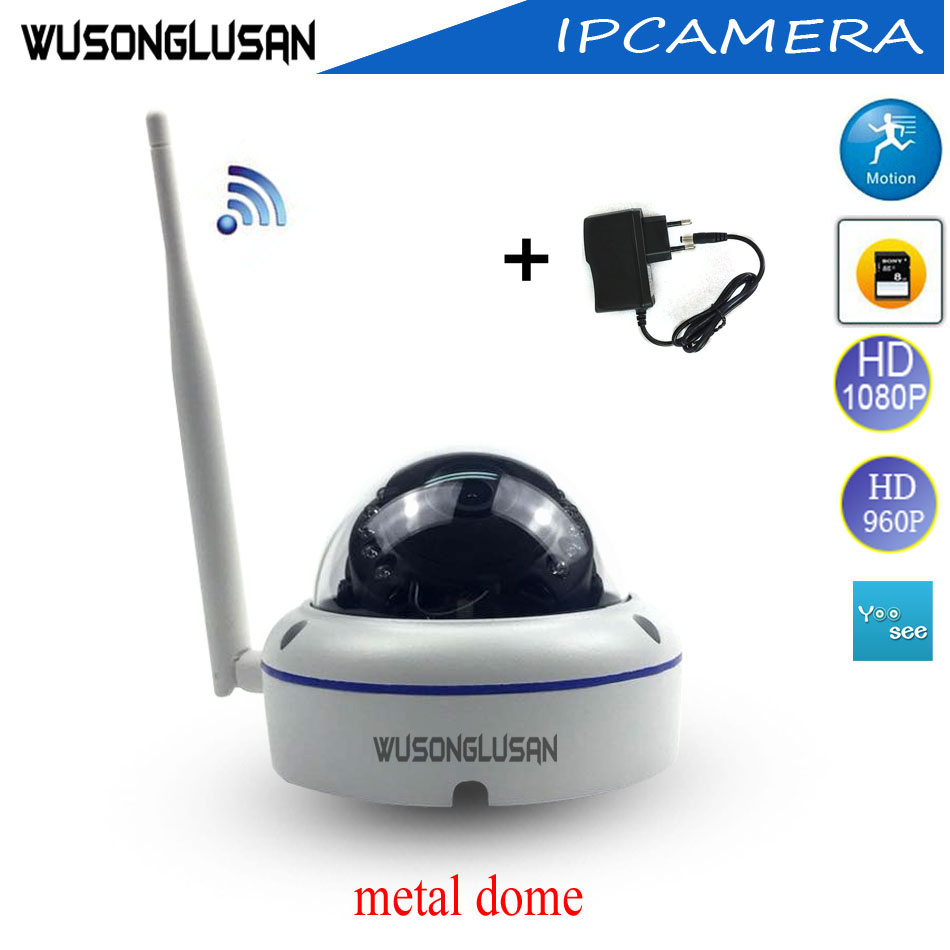 Outdoor Wifi IP Dome Camera 720P 960P 1080P Yoosee 15 Ir led Support Onvif P2P SD Card Motion Detector for CCTV Video Security