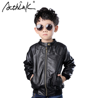 2015 New Boys Coats Faux Leather Jackets Brand 2 Colors Children Fashion Autumn Leather Outerwear Jackets