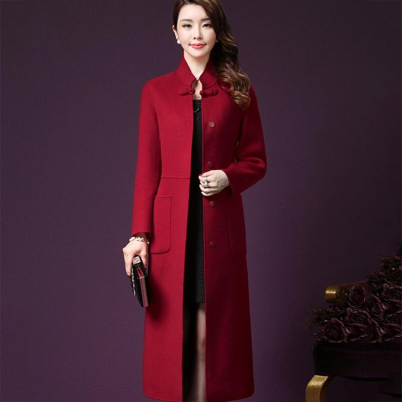 stojak kobiety stylu płaszcz
