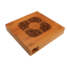 цена на Wooden Puer Tea Box Tea Tray Storage Box Square Puerh Tea Cake Package With Engraving Gift Case Handmade Containers