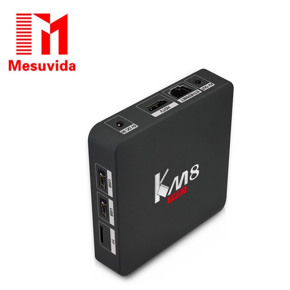 MESUVIDA KM8 Pro Smart TV Box Android 6.0 Amlogic S912 Octa Core CPU Supporting Bluetooth4.0 Dual Band WiFi KODI17.0 Set Top Box km8 pro 10pcs android tv box amlogic s912 8 core km8 pro 2g 16g android 6 0 dual wifi fully loaded unlocked 4k bt4 0