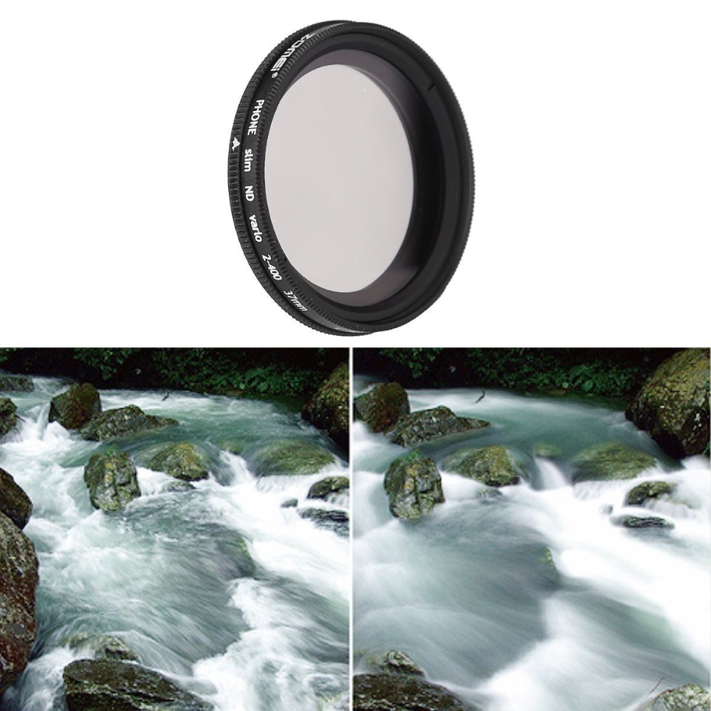 Professional Mobile Phone Filter 37mm ND2 - ND400 Pro Slim Adjustable ND Filters Phone Lens for Huawei for Samsung for iPhone 7