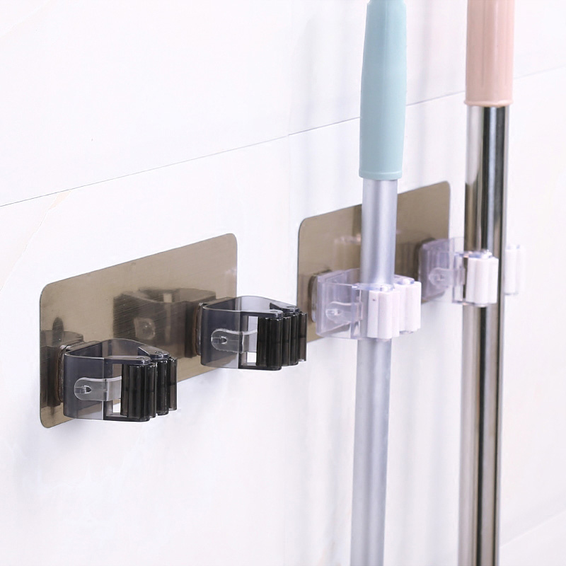 Sale 1PC New Wall Mounted Broom Holder kitchen Bathroom Wall Mop Holder Magic Sticker Broom Mop Rack