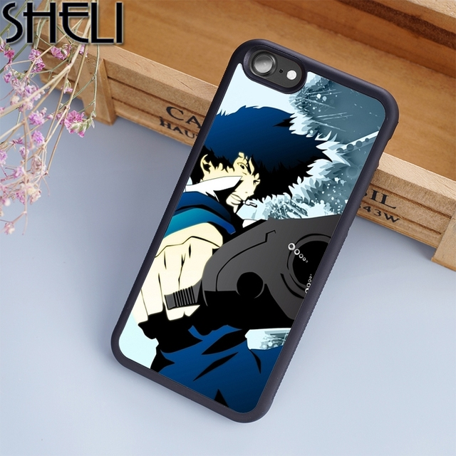 designer fashion a76b0 bd8fe US $4.99 |SHELI Spike Spiegel Cowboy Bebop Anime Phone Case For iPhone 6 6S  Plus 7 8 Plus X 5S Cover For Samsung Galaxy S5 S6 S7 S8-in Fitted Cases ...