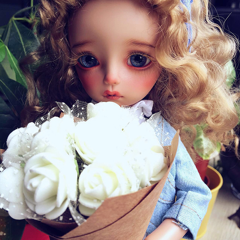 1PCS Hot Sale Doll Accessories Curly Doll Wig  1/6 1/3 1/4 BJD Wig Blond 1pcs hot sale sd bjd doll wig curly wig for dolls bjd 1 4 1 6 1 3