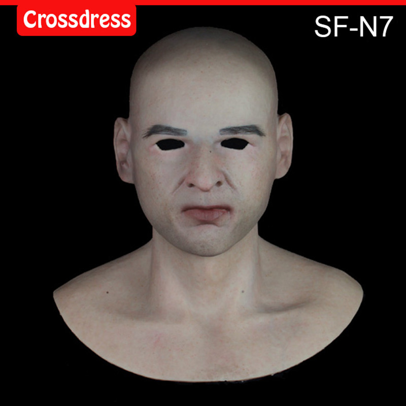 SF-N7  silicone true people mask  costume mask human face mask silicone dropshipping sf 8 silicone true people mask costume mask human face mask silicone dropshipping