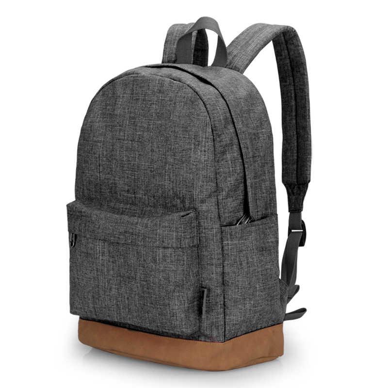 Mochila de lona para hombre de TINYAT, Mochila informal gris, mochilas para ordenador portátil de 15 pulgadas, Mochila para estudiantes, Mochila para mujer