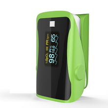 PRCMISEMED Household Health Monitors Pulsioximetro Oximeter Monitor OLED Heart Rate SPO2 Pulse Oximeter-Green