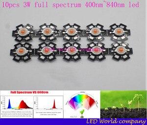 Image 3 - 10 stks 3 w volledige spectrum led 400 840nm led chip + 1 stks 6 10x3w 650ma dc18 34v led voeding constante stroom led diy kit