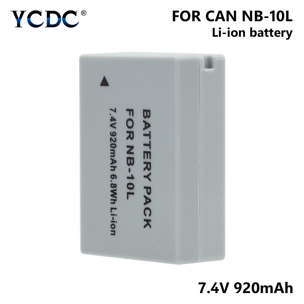 1/2pcs 7.4V 920mAh NB-10L NB10L NB 10L Camera Battery For Canon PowerShot G1 X G1X/G3 X G3X/G15/G16/SX40 HS SX40HS/SX50 HS1/2pcs 7.4V 920mAh NB-10L NB10L NB 10L Camera Battery For Canon PowerShot G1 X G1X/G3 X G3X/G15/G16/SX40 HS SX40HS/SX50 HS
