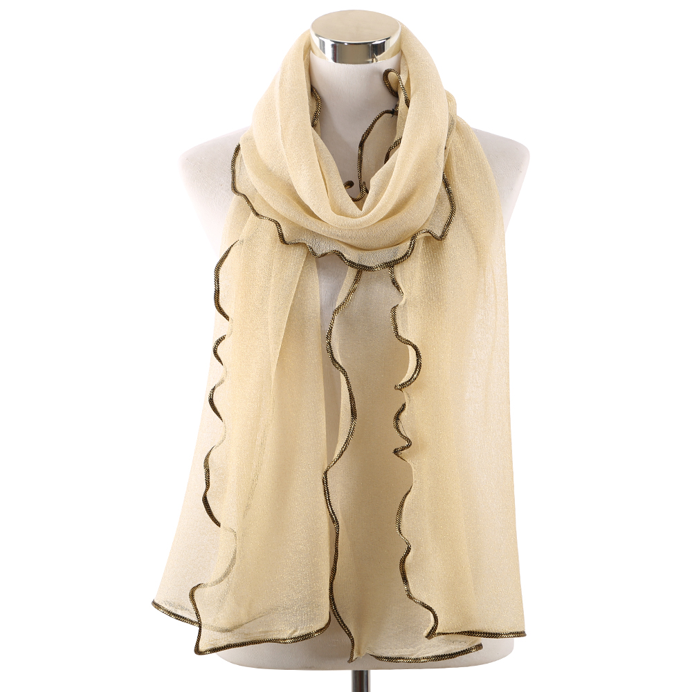 Image 4 - Gold Sliver Shiny Shimmer Scarfs Foulard De Mousseline Wrap Lurex  Glitter Hijab Shawl Scarves Islamic Arab Head Scarf HijabWomens  Scarves