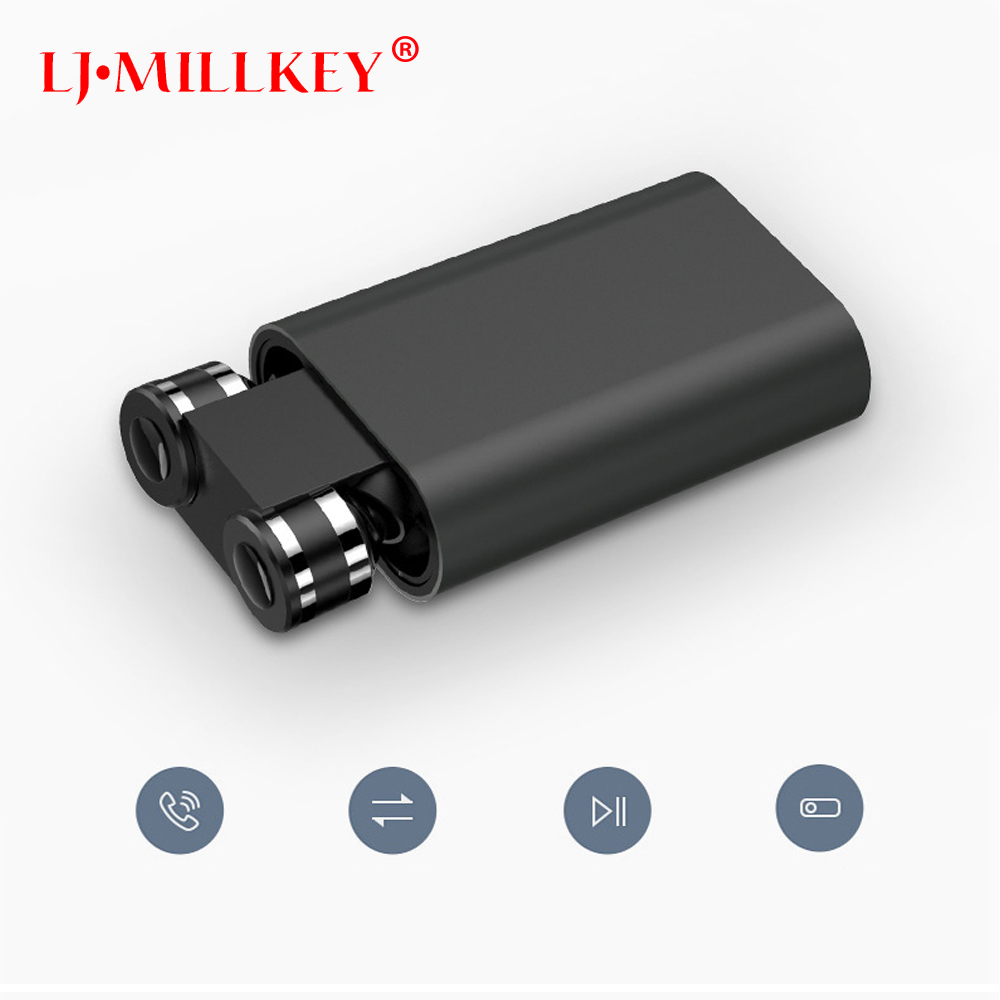 Ture Wireless Stereo TWS Mini Bluetooth headset Twins Earphone built-in Mic Wireless Recharge Earbud with power bank YZ165