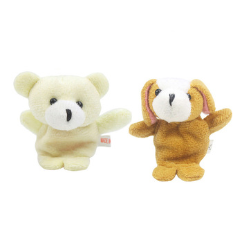 10Pcs Biological Animal Finger Puppet Plush Toys Child Baby Favor Dolls Tell Story Props Cute Cartoon Animal Doll Kids Toys 5