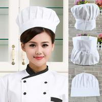 HOT 1Pcs Unisex Adult Elastic White Chef Hat Baker BBQ Kitchen Cooking Hat Costume Cap iPhone