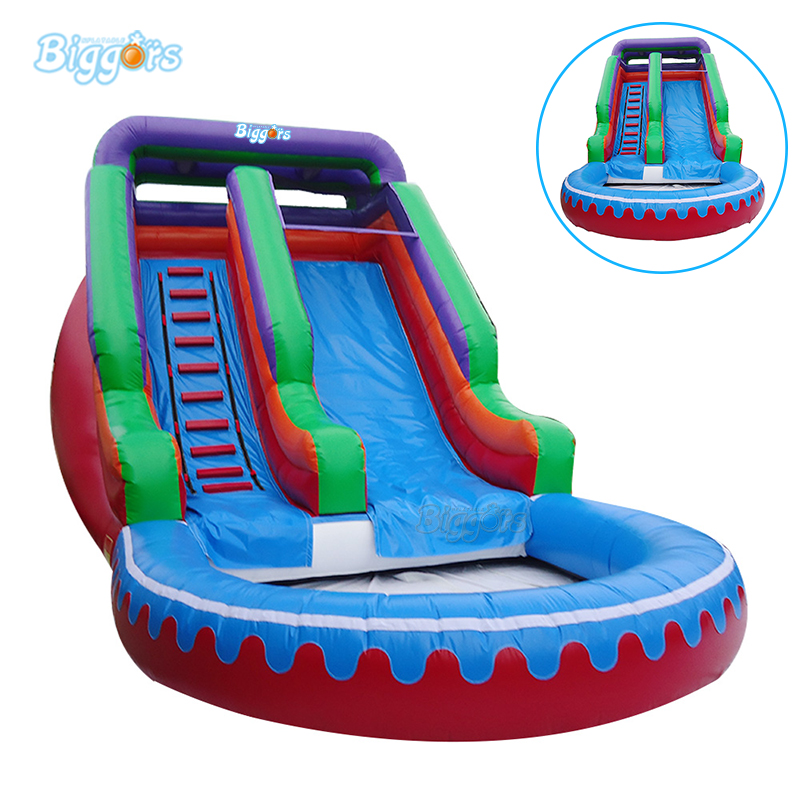 Commercial inflatable water slide pool with blowers Inflatable pool slide commercial inflatable slide with big pool giant inflatable water slide inflatable pool slide