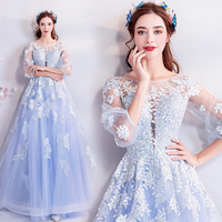 2019 New Quinceanera Dresses Prom Gown Appliques Scoop Neck Robe De Bal 15 16 Sweet Sixteen Debutante Gowns Sweet Party Dresses