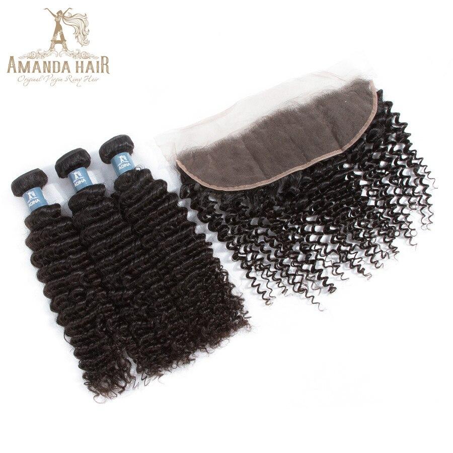 Hair Extensions & Wigs Amanda Brazilian Kinky Curly Virgin Hair 100% Unprocessed Curly Virgin Human Hair Bundles 10-30 Natural Color 1pcs Virgin Hair Weave