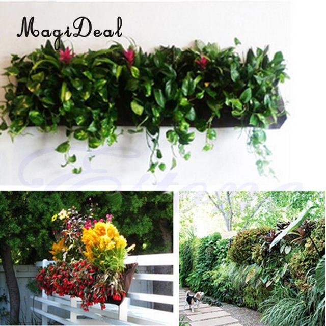 MagiDeal Wall Hanging Planting Bag 2 72 Pockets Vertical Garden Plant  Growing Bags Home Decor