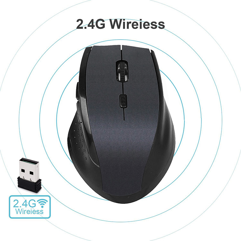 2 4G Wireless Mouse Gaming Mice Mini Portable Optical Wi fi Mause 6 Buttons With USB