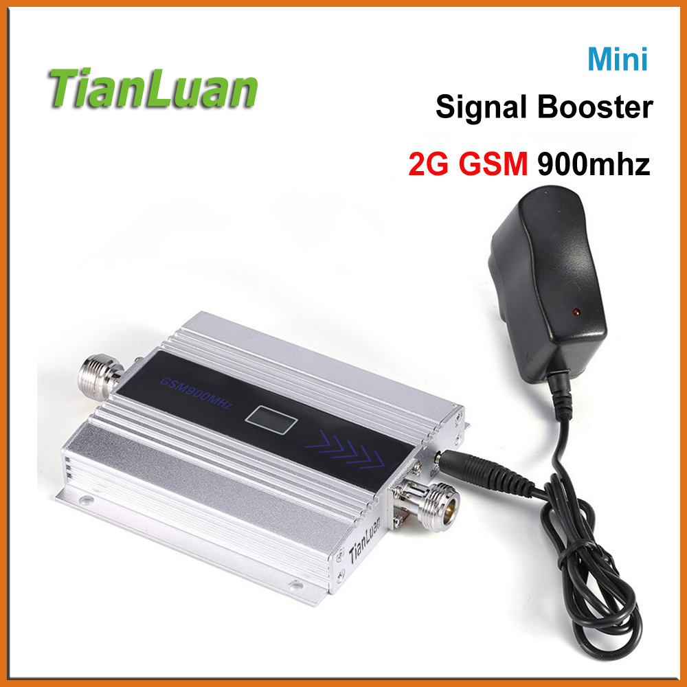 TianLuan Mini GSM 900Mhz Mobile Phone Signal Booster Repeater 2G Cell Amplifier Power LCD Display