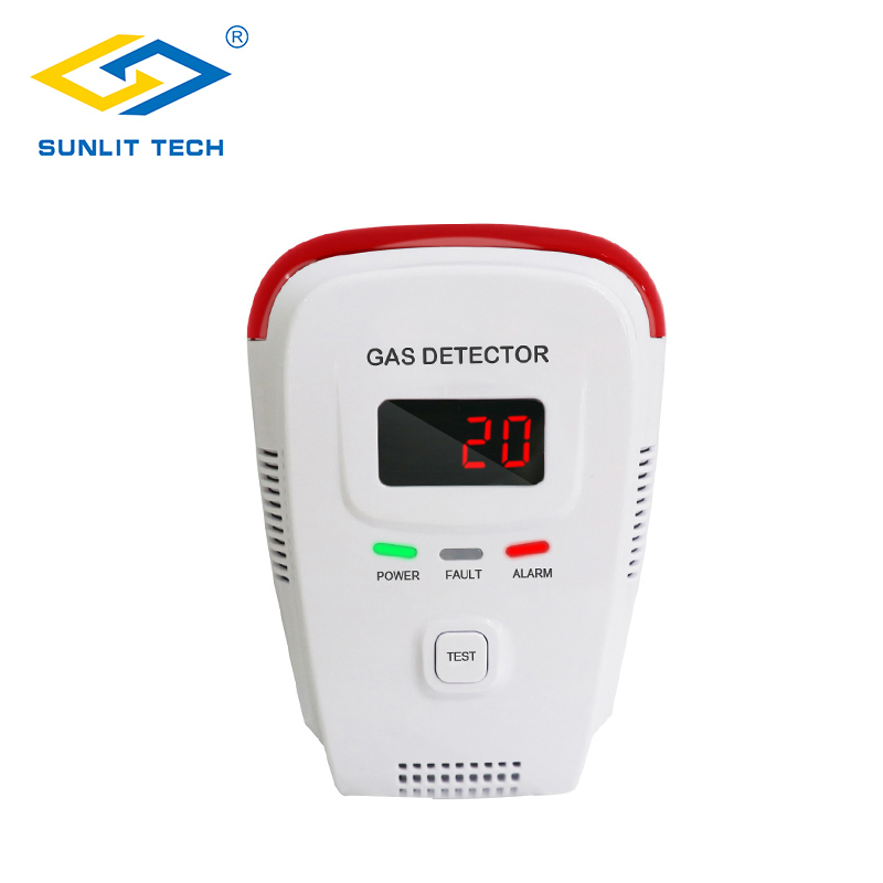 Home Gas Leak Alarm Tester Sensor Combustible Gases LPG Natural Gas Detector With Human Voice LED Display Explosive Gas Detector