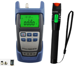 2 in 1 Fiber optic tool kit 30MW VFL fiber optic visual fault locator and -70~+10bdm fiber optic laser power meter Free shipping