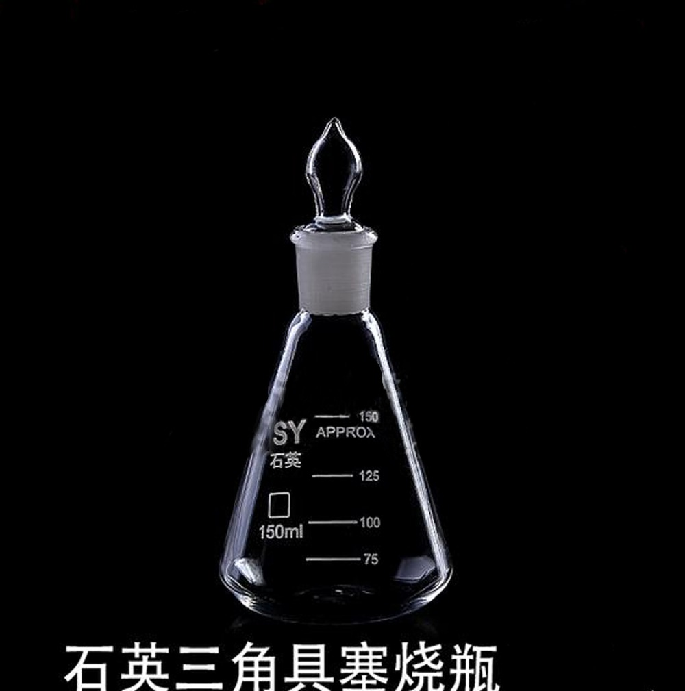 Laboratory triangle quartz flask with plug conical fask with stopper laboratory cork borer sets rubber stopper one set